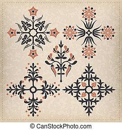 ornaments., ベクトル, セット