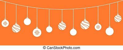 ornaments., decorations., gelul, kerstmis, hangend