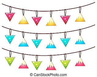 Ornaments hanging on line illustration