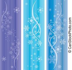 ornaments., résumé, vecteur, eps10, hiver