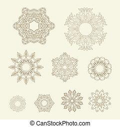 ornaments., vector