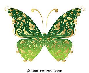 ornare, disegno, tuo, farfalla