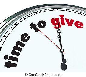 ornare, orologio, -, tempo, dare