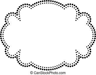ornare, vettore, illustration., frame.