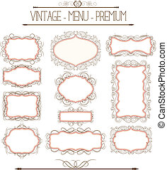 Ornate and doodle callgraphic frame