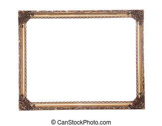 Ornate antique gold gilt frame cutout