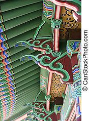 Ornate architectural detail Korean Bell Friendship