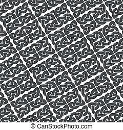 Ornate background vector - Ornate gray background, ?eltic ...