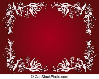 Ornate border - Decorative flowery border