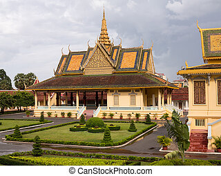 Ornate buildings in Royal Palace Cambodia