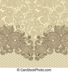 ornate card announcement - original hand draw floral ornate...