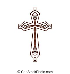 Ornate christian cross icon