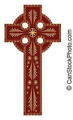 Ornate Christian Cross Vector