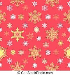 Ornate Christmas Snowflakes Seamless Pattern graphic design
