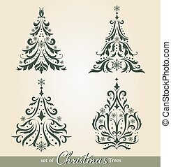 Ornate Christmas Trees