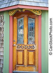 Ornate, colorful door