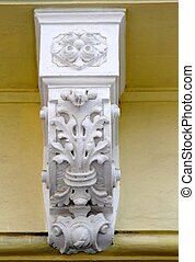 Ornate corbel on a building wall
