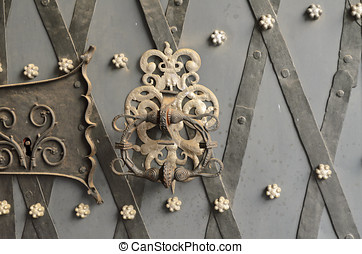 Ornate door knocker - Metalwork door knocker