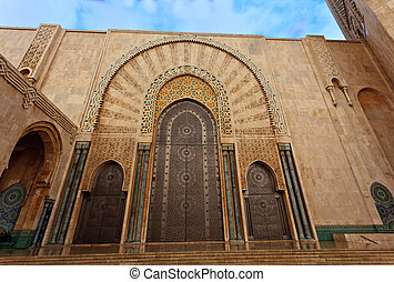 Ornate door on Hassan II Mosque