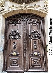 Ornate Doors on Ancient Valencia Church