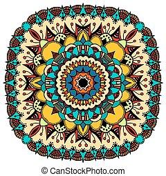 Ornate eastern mandala - Ornate, eastern mandala with golden...