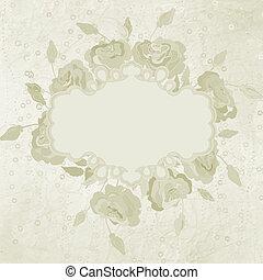 Ornate elegant frame with hearts. EPS 8