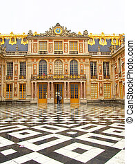 Ornate Entrance to Versaille Palace