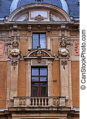 Ornate facade in baroque style