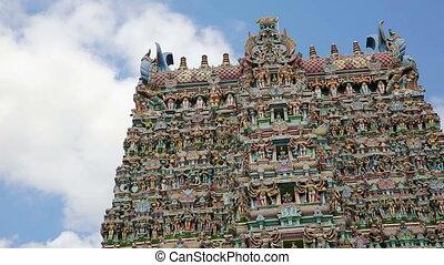 Ornate facade of Hindu temple