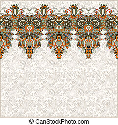 ornate floral background with ornament stripe