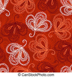 Ornate floral seamless pattern