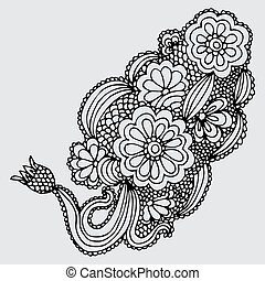 ornate flower design