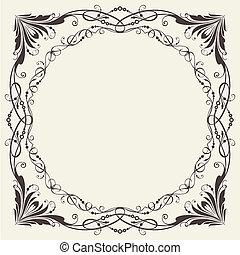 Ornate frame for invitations