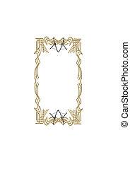 ornate frame in gold and black