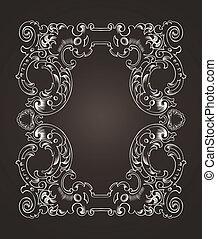 Ornate Frame On Dark Brown