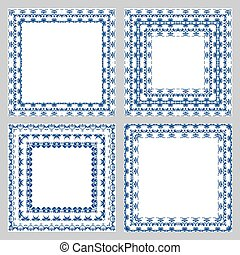 Ornate frame vector set