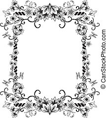 Ornate frame with flowers
