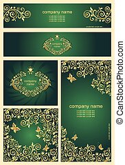 Ornate golden templates for you corporate style
