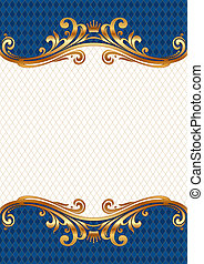 Ornate golden vector frame
