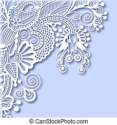 ornate greeting card, christmas decoration