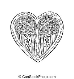 Ornate heart sketch full