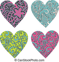 ornate-hearts-set
