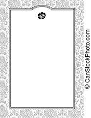 ornate kader, vector, damast
