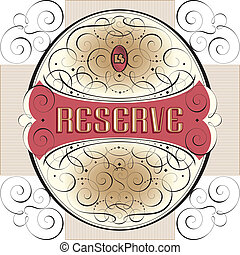 ornate label design (vector)