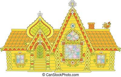 Ornate log house