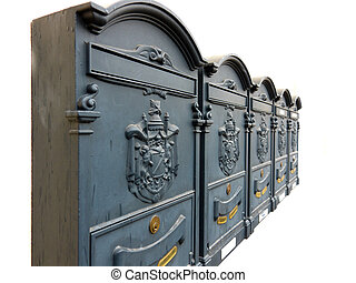 Ornate Mailboxes With Armorials