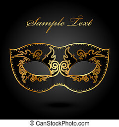 ornate mask - Mystery - vector background with ornate mask