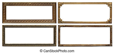 Ornate metal frames