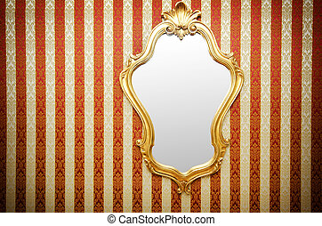 Ornate mirror on the wall