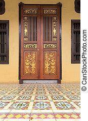 Ornate Peranakan Style Doors Entryway